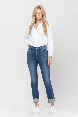 The Basics Rene Classic Boyfriend Jean by Flying Monkey - Cason Couture