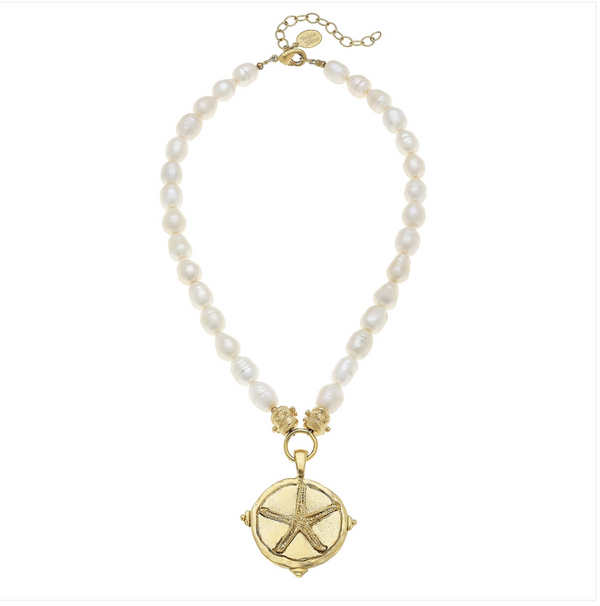 The Lana Freshwater Pearl & Gold Starfish Necklace - Cason Couture