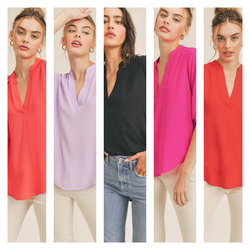 Pre-Order The Lush Summer Basic in Black, Fuchsia & Poppy Red - Cason Couture