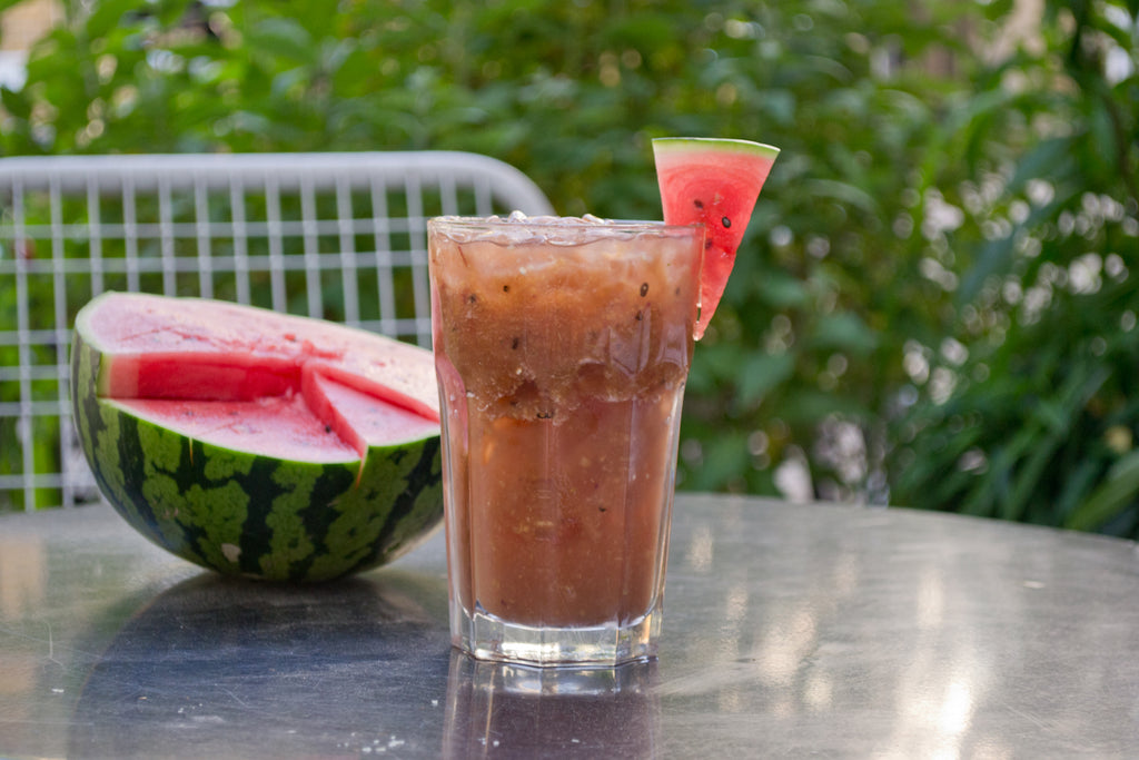 Need to cool off? Behold: Matcha Watermelon Peach Lemonade