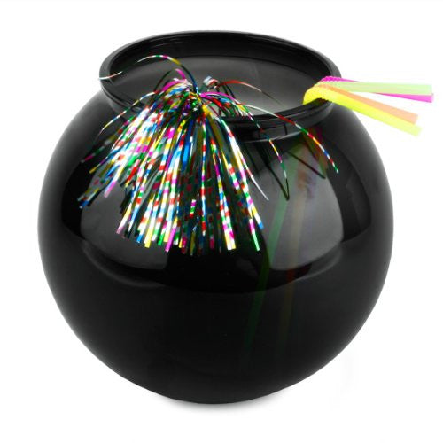 Black cocktail fish bowl