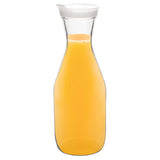 Plastic carafe with clip lid
