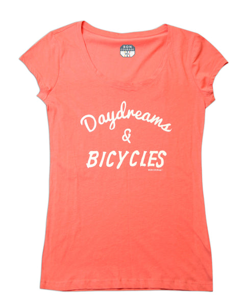 Ladies 'Bicycles and Daydreams' scoop neck Tshirt