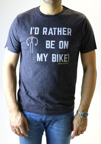 'I'd rather be on my bike' Graphic Tshirt