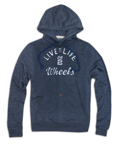 'Live life on 2 wheels' Super soft ladies fit Hoodie