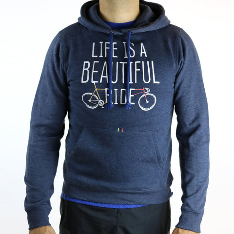 'Life is a beautiful ride' Super soft graphic Hoodie