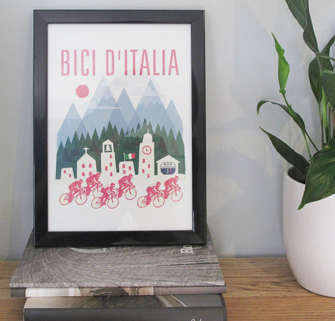Bon Courage Grand Tour poster - Bici d'Italia