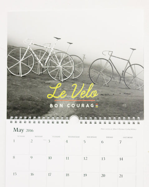 2016 Bon Courage calendar **SALE PRICE