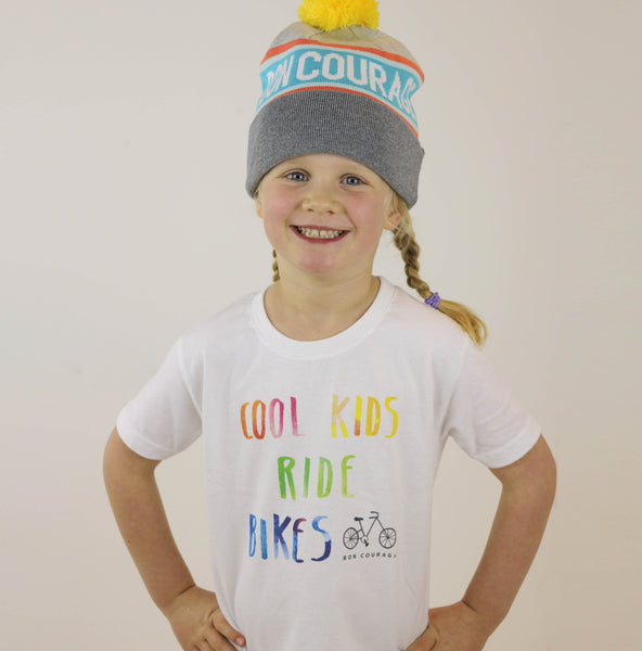 'Cool kids ride bikes' Kids Tshirt