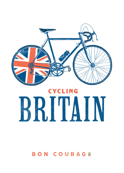 Cycling Britain bicycle sketch poster