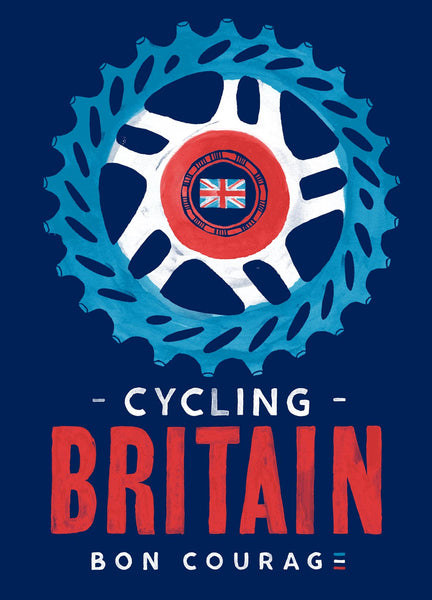 Cycling Britain cog painting poster
