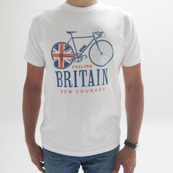'Cycling Britain bicycle' graphic T Shirt