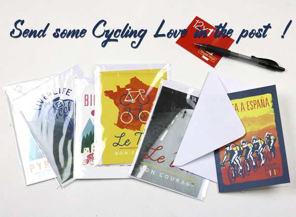 'Le Velo dans les Pyrenees' Greetings card