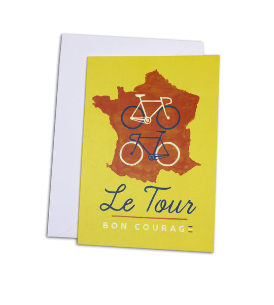'Le Tour' Greetings card