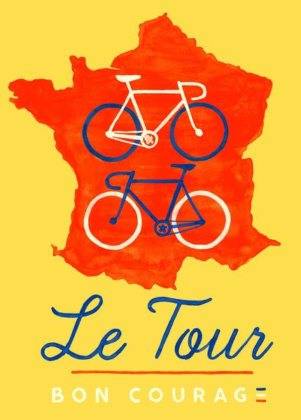 Bon Courage Grand Tour poster - Tour de France