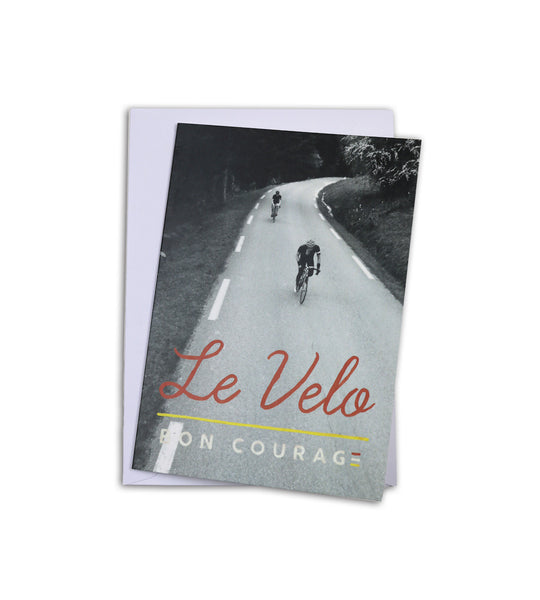 'Le Velo' Greetings card