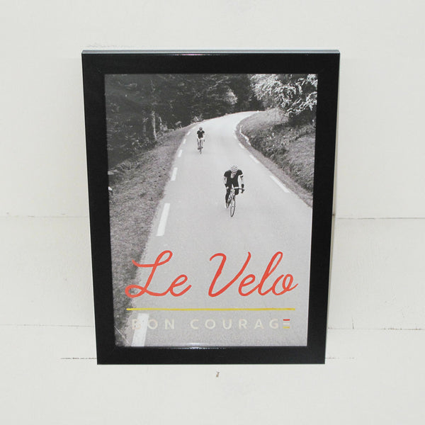 'Le Velo' Photographic cycling poster