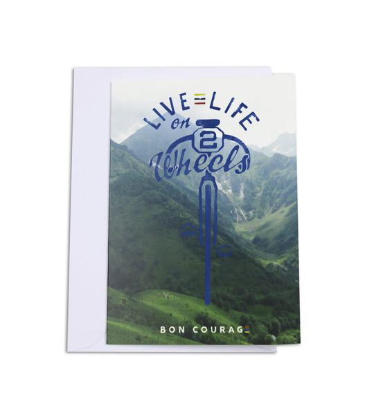 'Live life on 2 wheels' Greetings card