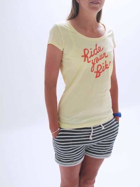 Ladies 'Ride your bike' scoop neck Tshirt
