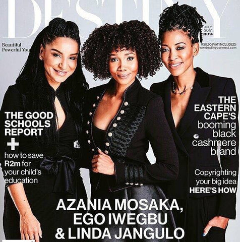Ego Iwegbu Azania Mosaka and Linda Jangulo Destiny Magazine Cover Stars July 2017 Issue
