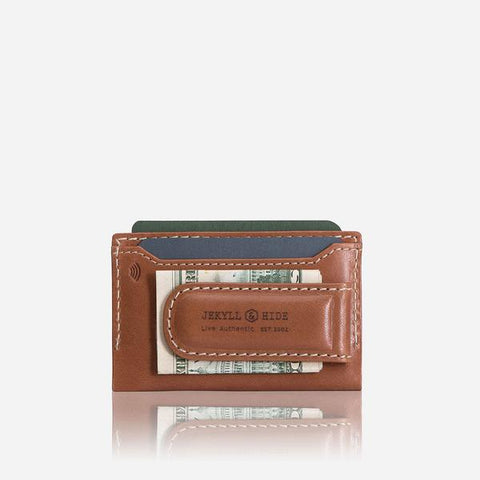 Money Clip Card Holder - Tan