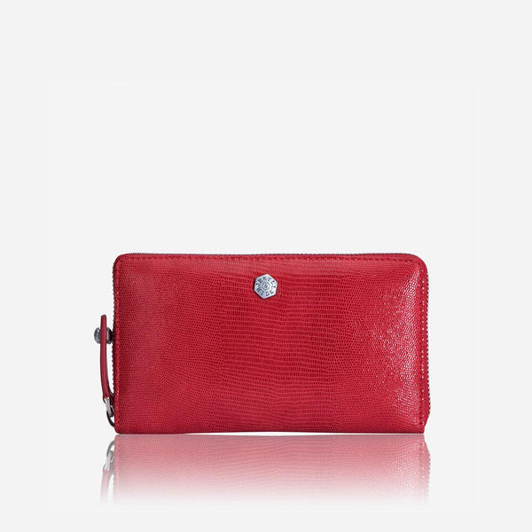 Large Leather Purses - Medium Zip around Purse, Cherry