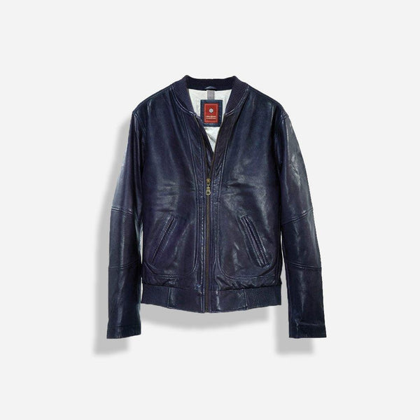 Men's Sale - Leather Jacket, Navy