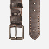 Distressed Leather Mens Belt, Brown - Jekyll and Hide UK