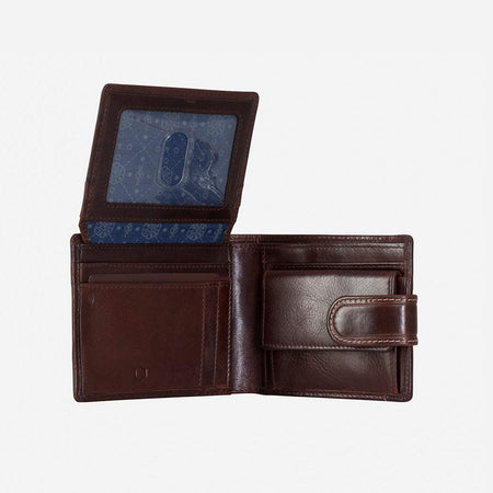 Bifold Wallet With Coin And Tab Closure - Jekyll and Hide UK