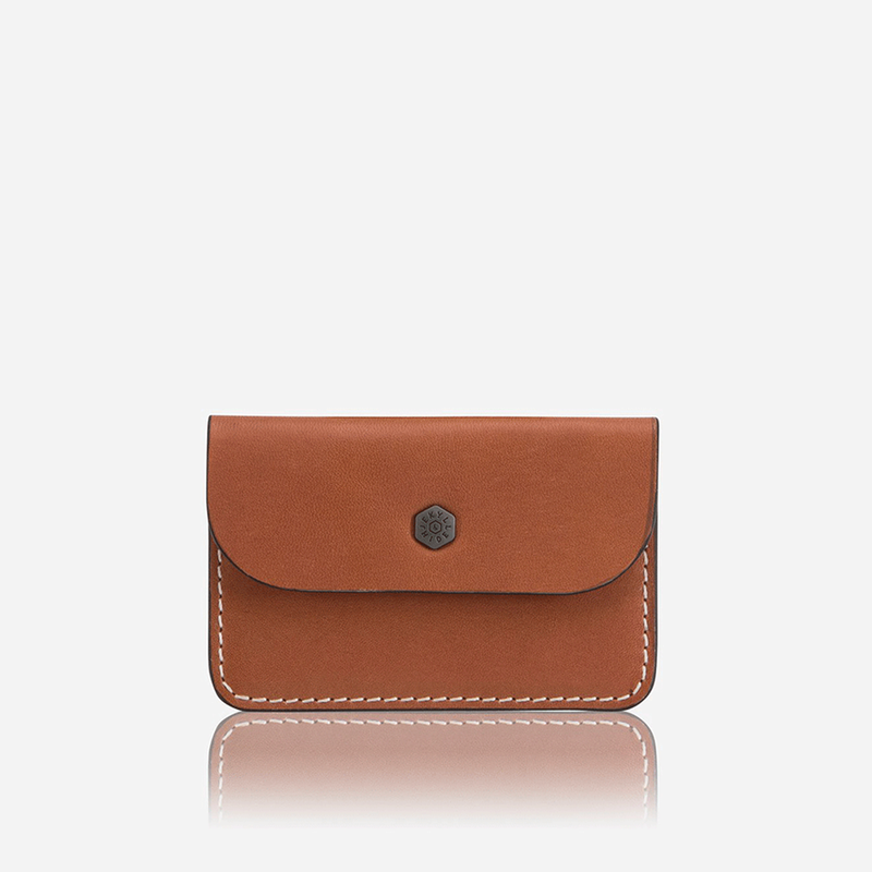 Slim Card Pouch, Tan - Jekyll and Hide UK