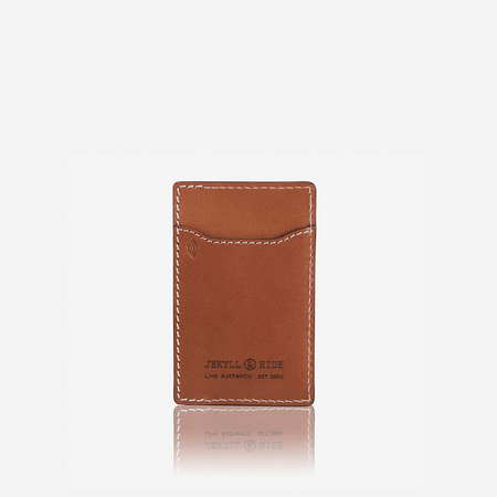 Slim Upright Card Holder, Tan - Jekyll and Hide UK