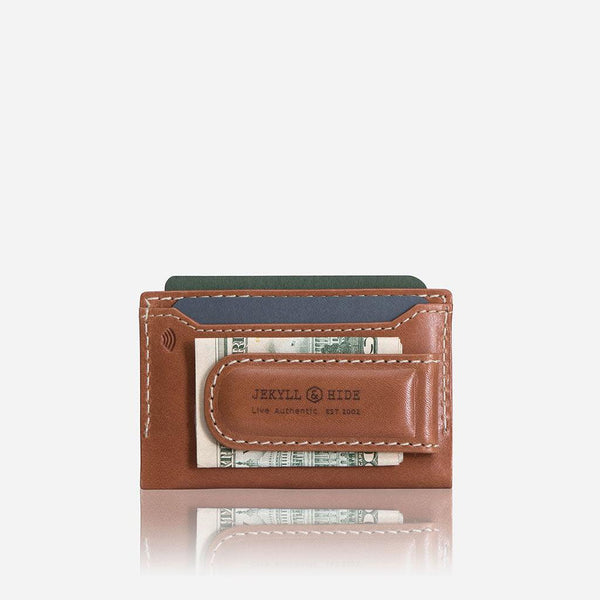 Holiday Gift Guide - Money Clip Card Holder, Tan