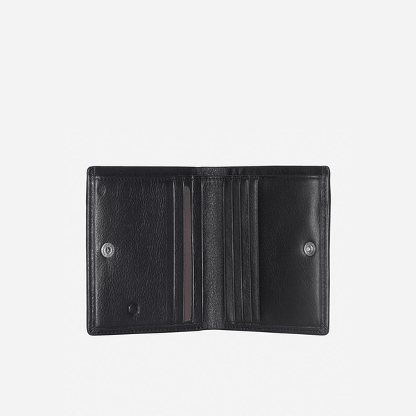 GIFTS UNDER £50 - Slim Bifold Card Holder With Coin, Soft Black