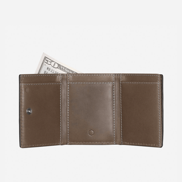 Men's Sale - Tri Fold Card Holder, Olive