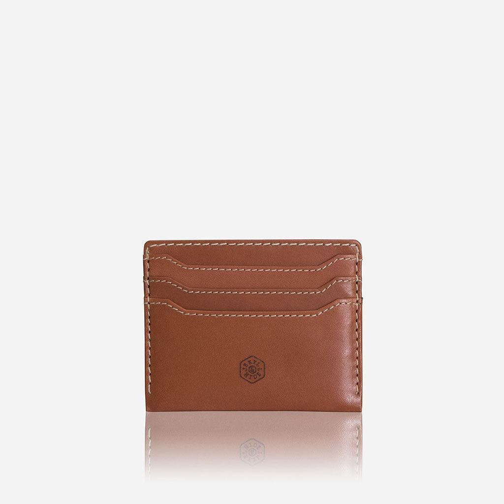 Leather Card Holder, Tan - Jekyll and Hide UK