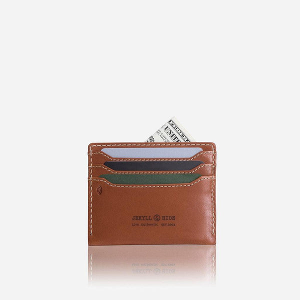 All Men's Wallets - Leather Card Holder, Tan