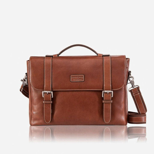 Black Friday Men's Collections - Double Buckle Laptop Briefcase