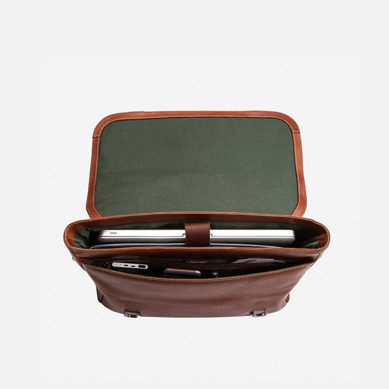 Double Buckle Laptop Briefcase - Jekyll and Hide UK