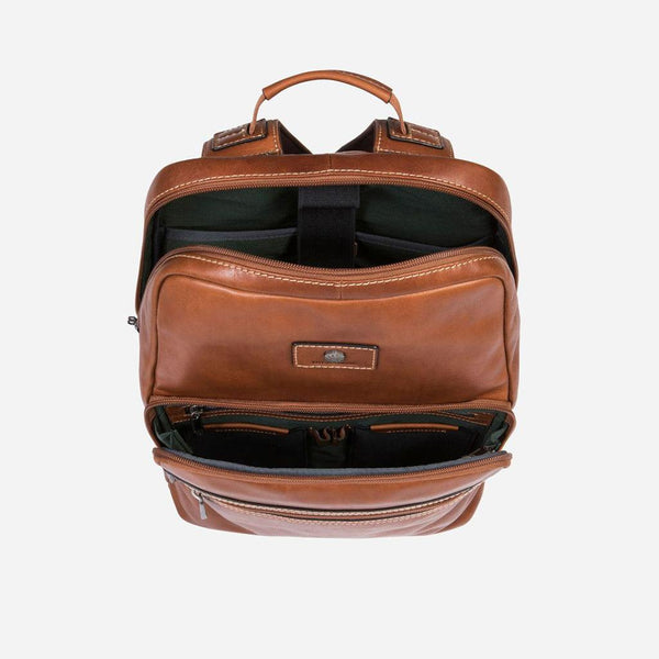 Leather Business Bags for Women - Compact Laptop Backpack 42cm, Colt