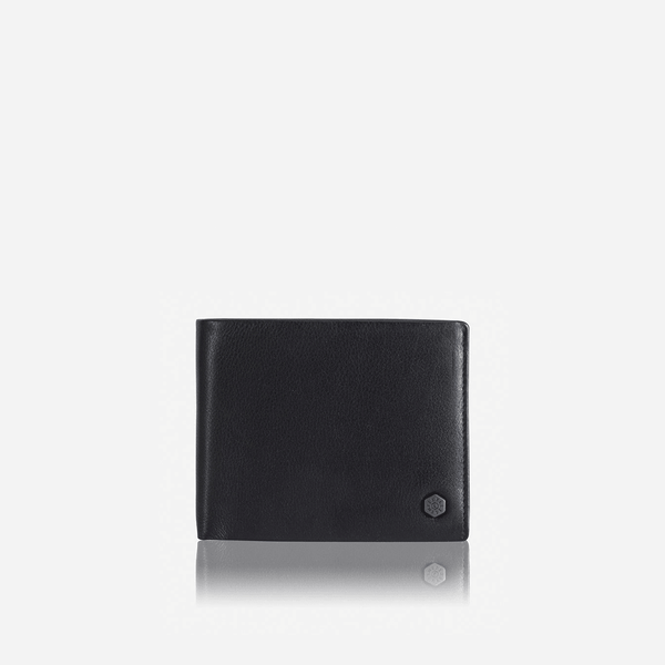All Men's Wallets - Large Bifold Wallet With Coin, Soft Black