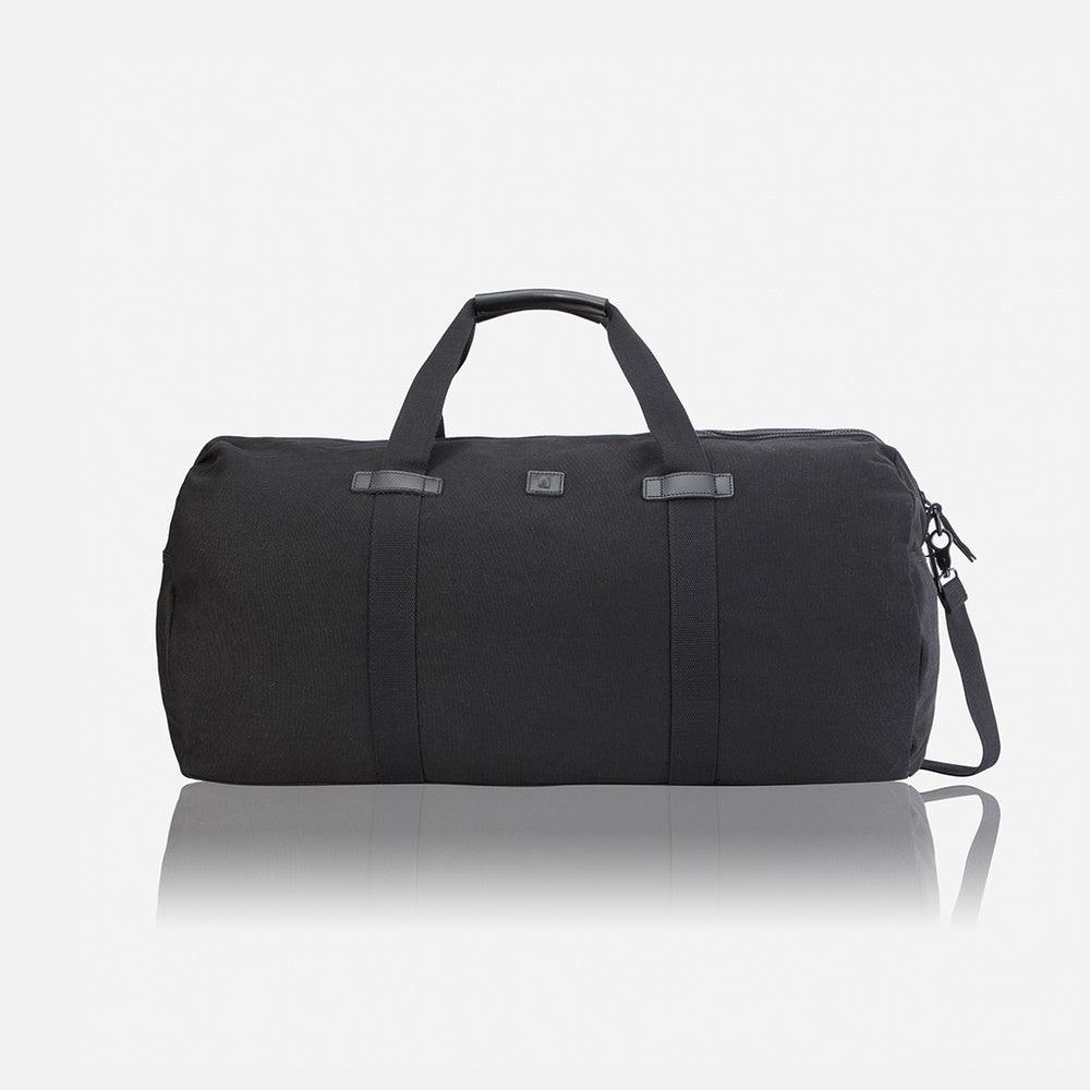 Large Canvas Casual Holdall 65cm, Black - Jekyll and Hide UK