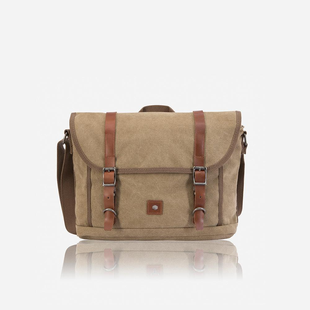 Casual Canvas Messenger, Khaki - Jekyll and Hide UK