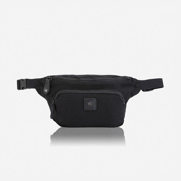 Casual Canvas Waist Bag, Black - Jekyll and Hide UK