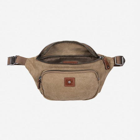 Casual Canvas Waist Bag, Khaki - Jekyll and Hide UK