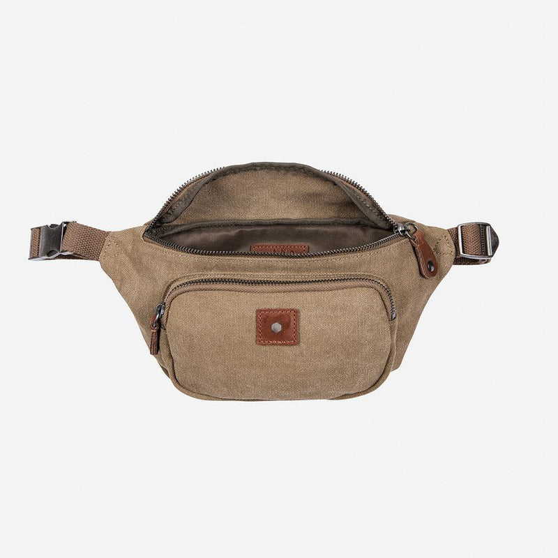 Casual Waist Bag, Khaki - Jekyll and Hide UK