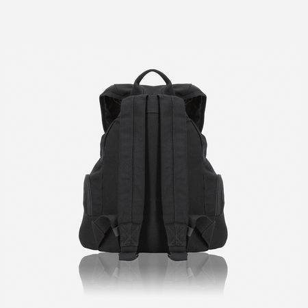 Casual Canvas Backpack 43cm, Black - Jekyll and Hide UK