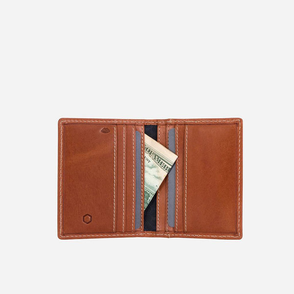All Men's Wallets - Slim Bifold Card Holder, Tan