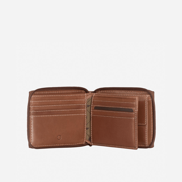 All Men's Wallets - Zip Around Coin Wallet, Clay