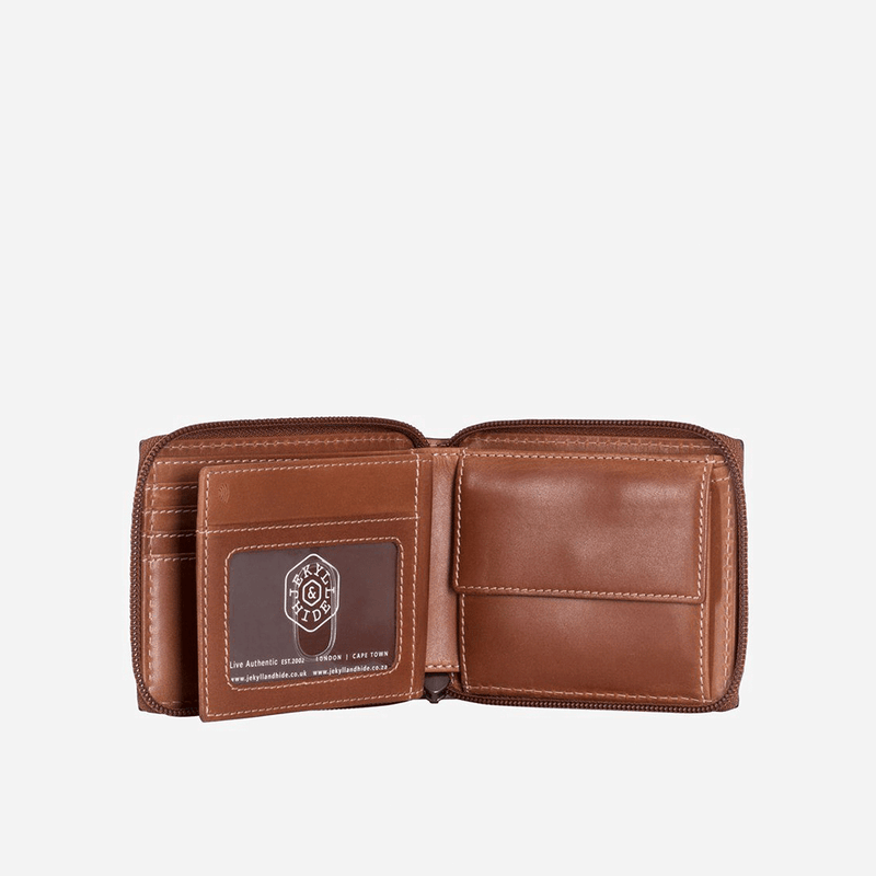 Zip Around Coin Wallet, Clay - Jekyll and Hide UK