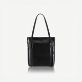 Upright Leather Shopping Tote, Matt Black - Jekyll and Hide UK
